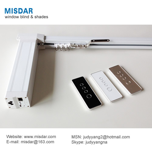 Motorized curtain track, motorized curtain rod, motorized blind track