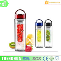 BPA Free Plastic Water Bottle Fruit Infuser Water Bottle For Drinking