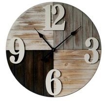 2017 Vintage old style crafts wood wall clock