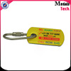 Popular USA style printing logo epoxy finish dog tag keychain with customized
