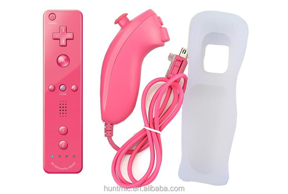 Motion Sensor Remote Controller + Wired Nunchuck Combo for Nintendo Wii