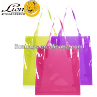 Promotional Colorful Clear PVC bag shopping bags