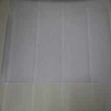 New arrival white solid jacquard stripe chiffon voile curtain fabric with lead line