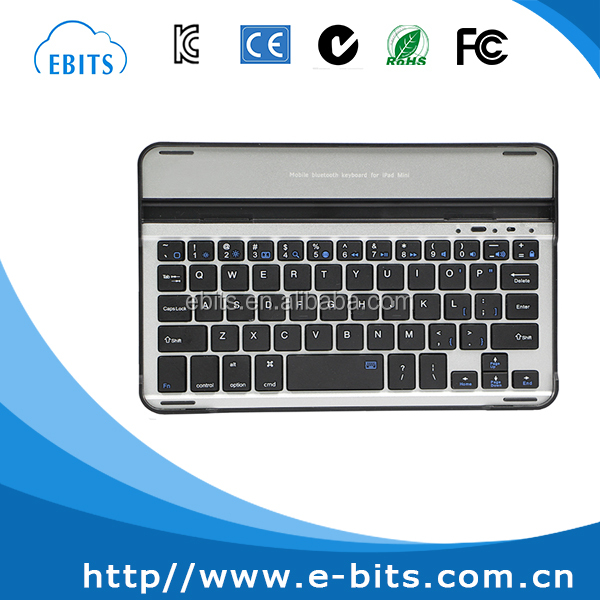 Factory price mini size ce/rohs/fcc/iso wireless bluetooth 3.0 keyboard for ipad