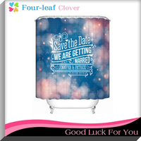 Printed Polyester Shower Curtain / Bathroom Shower Curtains / Waterproof Shower Curtain