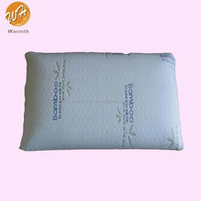 soft comfort pu memory foam neck pillow with bamboo fabric