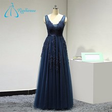 2017 China Suzhou Supplier V-Neckline Tulle Formal Gowns Evening Dress