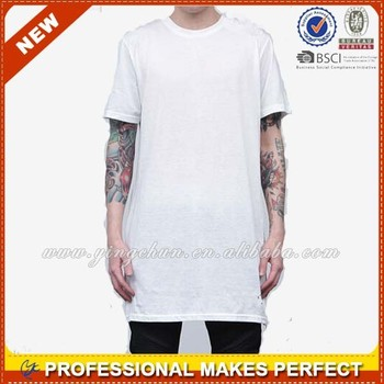 Athletic big tall solid cotton crew neck tshirt