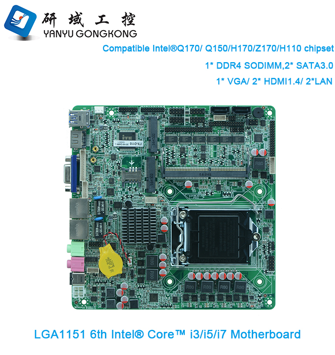 LGA1156 cpu mini pc thin client i3 i5 i7 motherboard DDR4 RAM with 6* RS232
