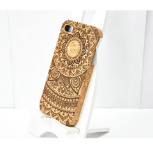 Laser engraving for iphone4 cork wood phone case high quality wood phone case