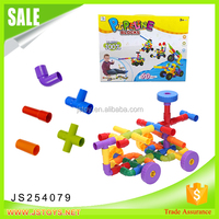 Best sell creative DIY toys plastic pipe blocks building toys for Kids