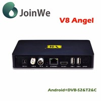 Hottest V8 Angel DVB-S2+T2+Cable 4K Satellite Receiver/Box/OTT Built in Bluetooth and WiFi V8 Angel