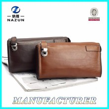 China Hot 2015 Leisure Leather Mens Clutch Handbag