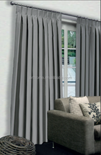 3 pass blockout inverted pleat stock curtain 100%polyester