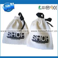 Bottom price best selling cotton muslin drawstring pouch