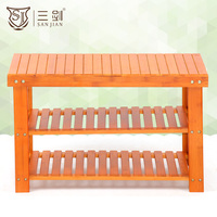 Best Selling Bamboo Products Living Room Furniture Type Wooden Indoor Shoes Storage Bench
