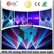 XHR 3W mini analog multi laser light,rgb animation stage laser lights sale,dj laser light price