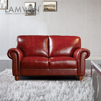 Customized Modern Red Leather Sofa Price
