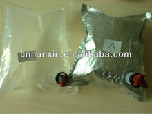 bag in box with valve for oil water wine juice