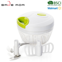Shuangma brand twisting vegetable and salad chopper as seen on tv magic food chopper pull chopper hand