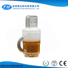 High quality beer cup usb flash drive menory drive