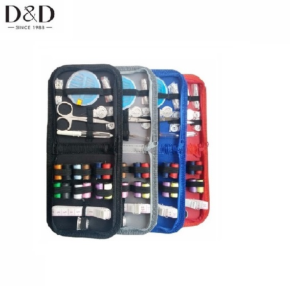 TOP quality Travel wholesale mini sewing kits in zipper pouch from Chinese factory