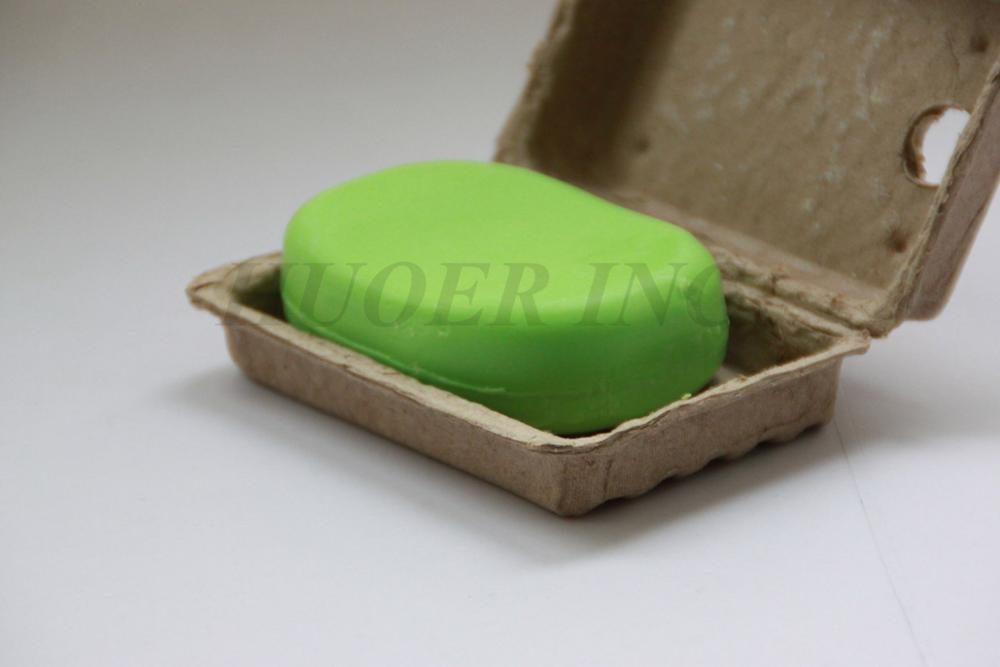 Custom Design Biodegradable Molded Pulp Eco-Friendly Soap Packaging