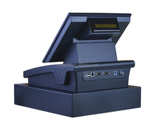 new high-tech All In One touch Pos machine/pos system/pos hardware with Thermal Printer, customer display, Cash box, Software