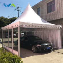 Luxury 5x5m Glass Wall Pagoda Tent for Car Show