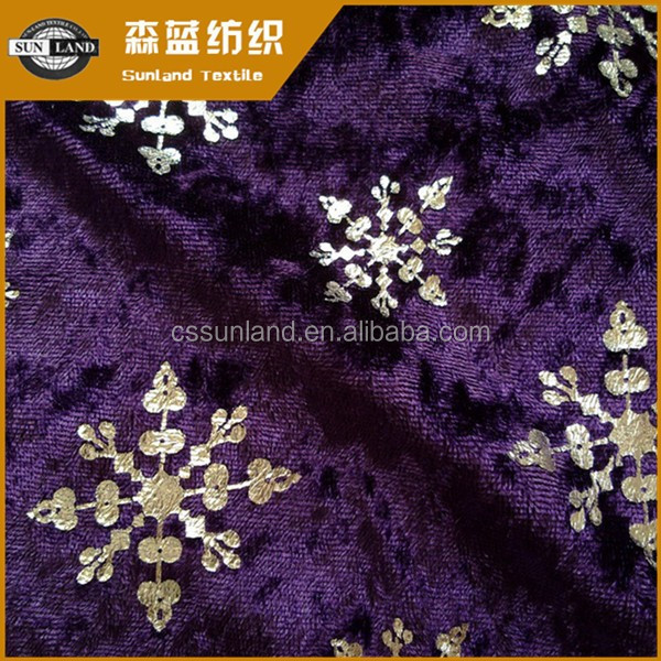 Hot sale warp knitting spandex velvet for chinese dress