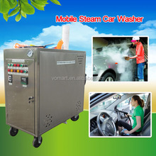 CE 20 bar 2 hose gas mobile steam cleaner /steam auto detailing products