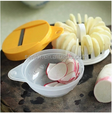 As seen on TV DIY microwave oven baked potato chips maker machine /microwave oven grill basket