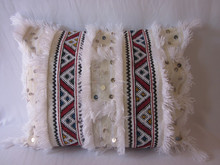 Beautiful Moroccan Hand Woven Wedding Blanket Cushion Cover