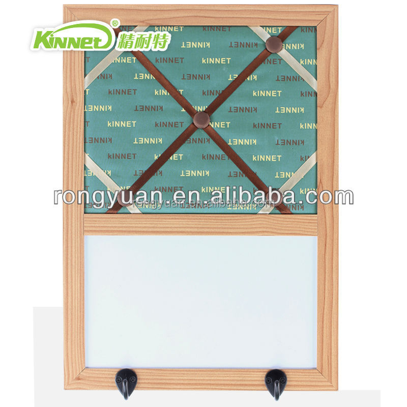 Enclosed wall mounted notice magnetic half cork board