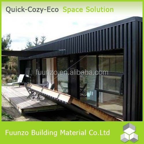 Recycled Eco-friendly Flat Pack Container Timber Cladding Guest Houses