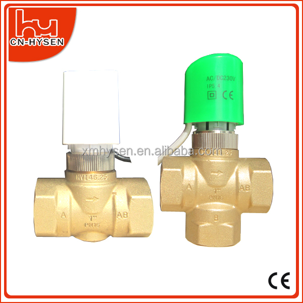 Central Air Conditioning Heating And Cooling Water Motorized Valve