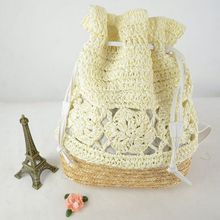 Lady handbag hand-woven rattan straw bag hand shoulder bag