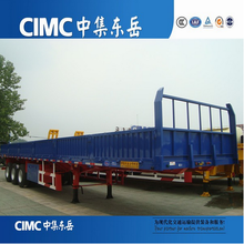 CIMC 3 Axle Side Wall Semi Trailer For Loading Container Or Bulk Cargo In Ghana