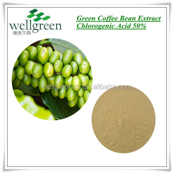 Manufacturer supply organic Green Coffee Bean extract for anti-oxidant