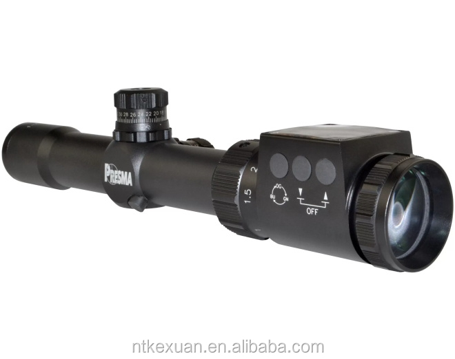 Rifle Scope, SP Solar Powered Series 1-6X28 Precision Scope, OGB RXR Glass Reticle