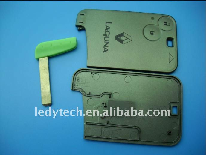 Good quality Renault Laguna 2 buttons smart key case with blade, laguna key blank and key shell