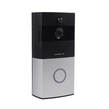 LS VISION 720P Remote 2 Way Audio Intercom PIR Motion Detection Alarm Battery Smart Wireless Wifi Doorbell Camera for Apartments