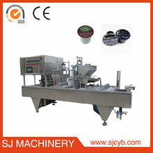Automatic or semi automatic coffee capsule filling sealing machine