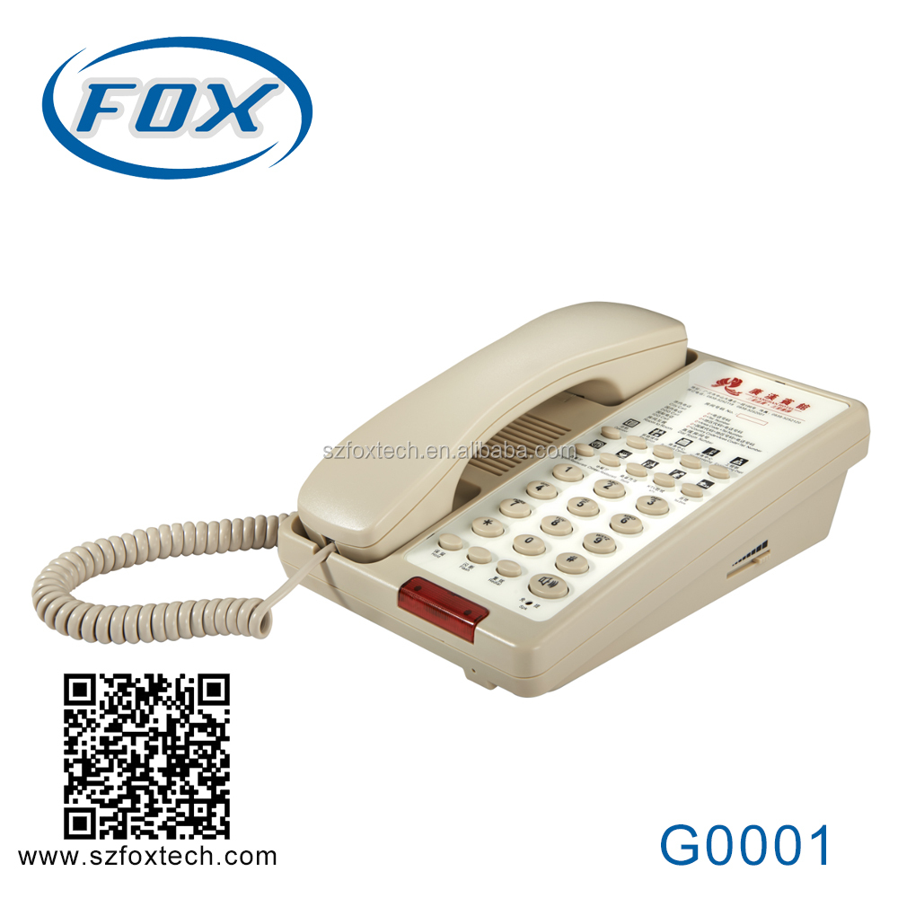 FOX classical hotel guest room table cell phone