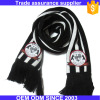 Custom crochet soccer football fan scarf with logo embroidery