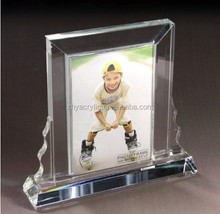 Custom fashion style acrylic curved photo frame,glass photo frame