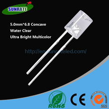 Over 20 Years Experience Ultra Bright High Quality 5mm*6.8 Concave Lamp Led Diode Light