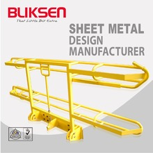 Welding and bending processing aluminum metal bicycle frame