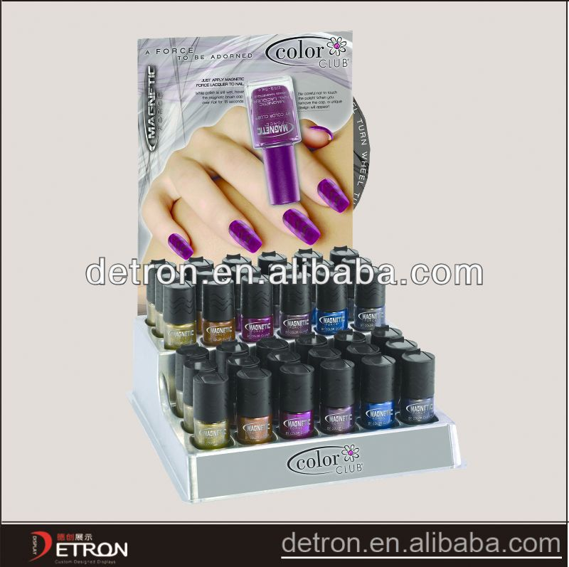 Elegant Good quality cosmetic display stand for revlon
