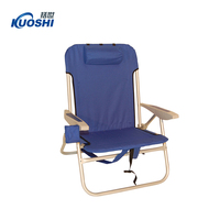 folding portable backpack beach chair with wheels